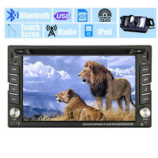 GPS Multimedia 1080P Double 2DIN Car Stereo DVD Player Bluetooth iPod MP3+Camera