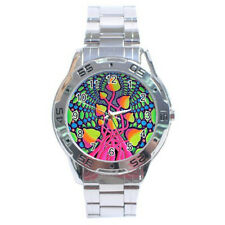 Tie-Dye Hippy Mushroom Psychedelic Stainless Steel Analogue Watch
