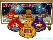 Flying Saucer Space Robot Set Tin Toy Windup SALE!