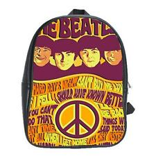 The Beatles Band Vintage Backpack Leather Boys Girls School Textbook Bag Laptop