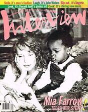 INTERVIEW Magazine 4/1994 MIA FARROW Donald Judd KRISTEN McMENAMY Victoria Abril