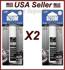 OZIUM New Car Scent Air Sanitizer Freshener 0.8oz car Office Home Spray (2 pack)