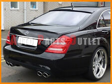 #040 Black - W221 M-BENZ S350 S550 AMG Trunk Lip & L-Type Roof Spoiler 2007-2013