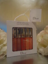 DIOR LIP GLOSS BOX SET 5 x 5ml 7.5cm tall SHEER NUDES IDEAL FOR TRAVEL OR GIFT