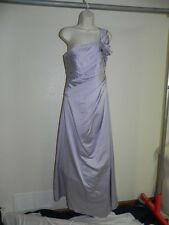 Davids Bridal Dress Size 10 Iris Purple F14430 Bridesmaid Prom Satin NWT $159