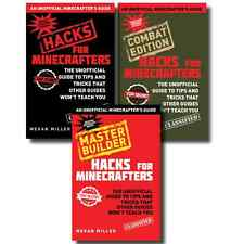 Minecraft Hacks Collection 3 Book Set Master Builder Combat edition Pack