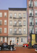 #242 N scale background building flat ROWHOUSE #1  *FREE SHIPPING*