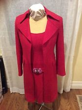 Nanette Lepore ladies tweed dress and matching coat size 8
