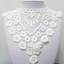 New Lace Embroidered Floral Neckline Neck Collar Trim Clothes Sewing Applique 63