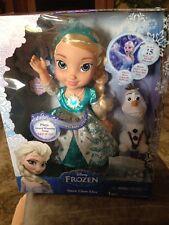Disney Frozen Snow Glow Elsa Doll Dress Lights Up Sings Let It Go Olaf In Hand!