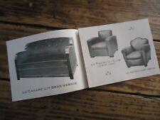 PUBLICITE MOBILIER CANAPE LIT FAUTEUIL CLUB FISCHLER PARIS 1950