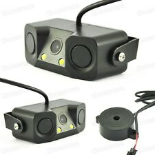 Universal 3 in 1 CCD Car Rear View Camera Reverse Backup Review + Parking Sensor