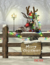 Christmas Thin vinyl photography backdrop background studio props 3x5ft  DZ388