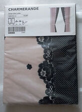 "New Ikea Charmerande Curtain 2 Panels Tie Back 47"" X 98"" Light Pink Cotton"