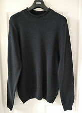 M&S Blue Harbour Pure Cotton Bagel Neck Knitted Jumper, Navy, Large, BNWT