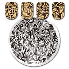 BORN PRETTY Nail Art Stamp Image Plate Template Flower Design Manicure BP-115