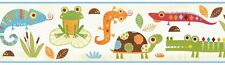 Reptile Smiles Wallpaper Border - Child's Room/Nursery - Turtles/Lizards/Frogs