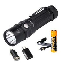 Fenix RC11 1000 Lumens Rechargeable LED Flashlight w/ 18650 Battery & USB Plugs