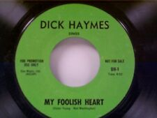 "DICK  HAYMES ""MY FOOLISH HEART / THAT'S FOR ME"" 45 PROMO"