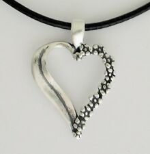 FORGET ME NOT HEART PENDANT 0.925 Sterling Silver Love & Undying Memory No Stone