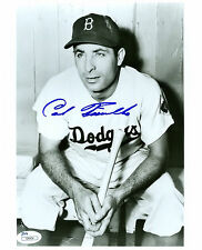 CARL FURILLO SIGNED JSA COA 8X10 PHOTO AUTO AUTOGRAPHED BROOKLYN DODGERS + BONUS