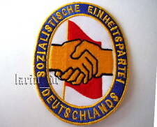"DDR partido sed Patch patch ""insignia"" aprox. 9cm ecusson RDA socialista ed"
