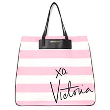 NEW Genuine VICTORIA'S SECRET Signature Striped Large Tote Handbag Beach Bag