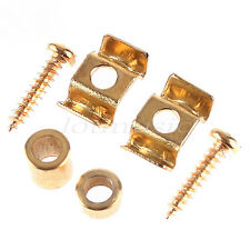 2 Pairs Gold Roller String Retainer Tree Guides For Fender Strat Guitar Parts