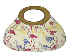 Collectif Tiki Flamingo Print Bag Yellow Rockabilly Vintage Pinup Purse 1950s