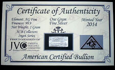 x20 ACB TITANIC ANNIVERSARY Limited Edition 999 Silver 1 Gram Bar with COA + bag