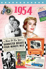 62nd Birthday Gifts - 1954 Time of  Life DVD and 1954 Retro Card - CD Card Com.
