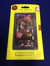 Ted London Baker iPhone 5/5S Silicone Case/ Flowers In Black-- New In Box