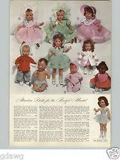 1950 PAPER AD Doll Effanbee Talking Electronic Mohair Wig Lambskin Plastic Latex