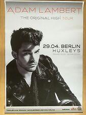 ADAM LAMBERT 2016 BERLIN - orig.Concert Poster - Konzert Plakat  NEU