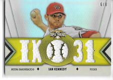 2012 Topps Triple Threads Ian Kennedy Game Used Raw 6/9 Arizona Diamondbacks