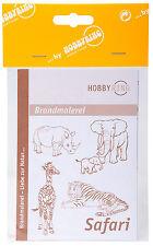 DIN-A3 Vorlagenbogen für Brandmalerei Zeichenvorlage doppelseitig - Safari