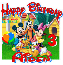 NEW Personalized Custom Mickey Mouse clubhouse birthday t shirt party favor