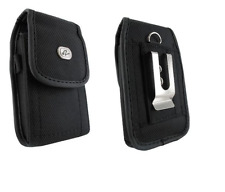 Canvas Belt Holster Pouch w Clip for iPhone 7 (FITS with OTTERBOX Commuter Case)