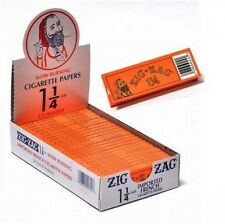 "Authentic,Original Orange Zig Zag 1 1/4""  Rolling Papers - 24 packs in box"