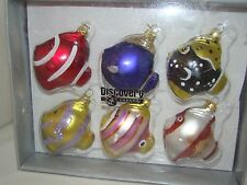 2002 Discovery Channel Tropical Fish Blown Glass Christmas Ornament Set of 6 NEW
