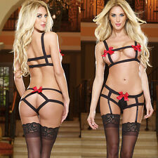 Women Nightwear Sex Bandage Lingerie Underwear G-string Adult BabyDoll Sleepwear