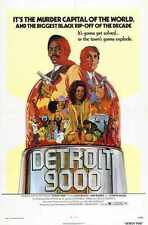Detroit 9000 Poster 01 Metal Sign A4 12x8 Aluminium