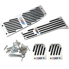 ALUMINUM Pedals For BMW M Tech E30 E36 E46 E87 E90 E91 E92 E93 M3 MANUAL Silver