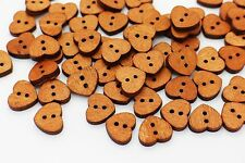 Heart Wooden Button Sew On Natural Wood Heart-shaped Baby Children Bead 20pcs
