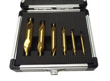 RDGTOOLS SET OF 6 TITANIUM COATED CENTRE DRILL SET METAL LATHE WORKING TOOLS