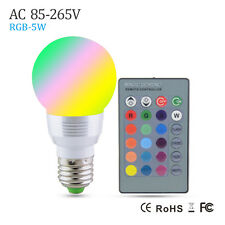 E27 RGB 5W LED Bubble Ball bulb Lights Lamp Candle COB light Lamparas AC85-265V