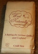 "Wool Naturally  Blend High Loft Batting, Craft Size 34"" x 45"""