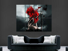 FANTASY WOMEN SWORD SAMURAI DIGITAL ART WALL LARGE IMAGE GIANT POSTER  !!