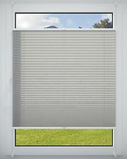 no-drill pleated clip-fit braced Roller Blind Blinds Blind Grey 90x220cm