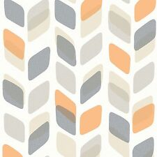 Unplugged Stem Feature Orange Retro Wallpaper Paste the Wall Vinyl UN3002